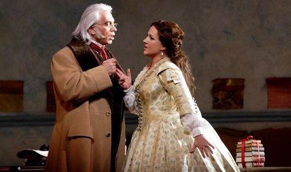 Dmitri Hvorostovsky as Germont and Diana Damrau as Violetta