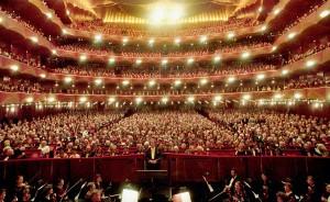 La vista dal palco al Metropolitan